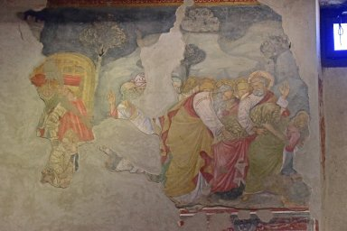 Burial of St. John the Baptist [North and East Wall Fragments]
