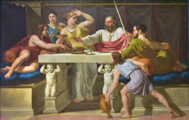 Theseus is recognized by his father Aegeas