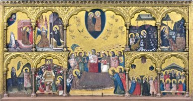 Altarpiece with the Dormition of the Virgin and the Coronation of the Virgin