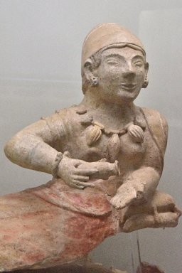 Figural Cremation Urn from Monte Abatone Necropolis