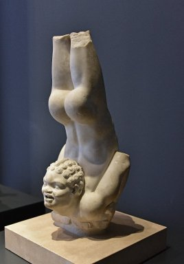Statue of Young African Acrobat