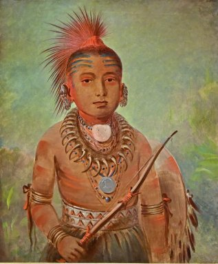Commanding General, a boy (Wa-Ta-We-Buck-A-Na)