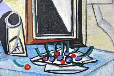Lamp and Cherries