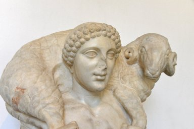 Fragmentary Statue of Hermes with a Ram