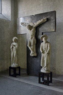 Christ Crucified, Madonna and Saint John