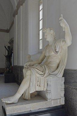 Emperor Augustus depicted as Jupiter Optimus Maximus