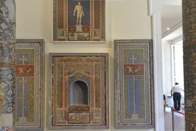 Pair of Mosaic Wall Panels with Candelabra