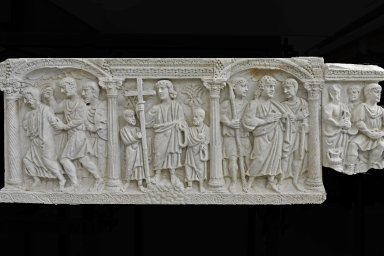 Fragment of Columnar Sarcophagus with Scenes of the Passion and Martyrdom of Paul