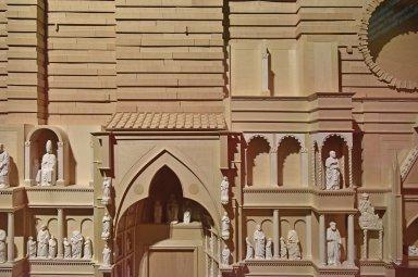 Model of Medieval Florence Duomo Facade