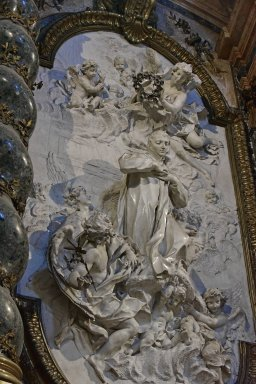Cappella Lancelotti, Apotheosis of the Blessed Aloysius Gonzaga (and Altar)