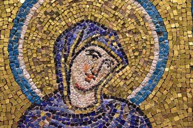 Virgin of the Nativity (Theotokos) [mosaic fragment]