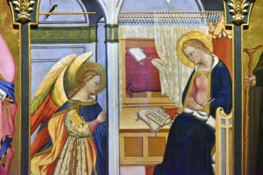 Annunciation with Saints Nicholas of Bari and Anthony Abbot