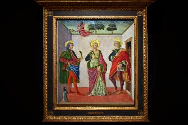 Saint Cecilia between Saint Valerian and Saint Tiburtius with a Donor