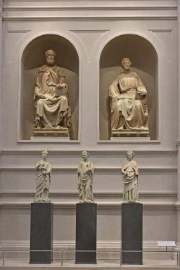 Duomo Façade Sculpture, Saint Mathew and Saint Luke