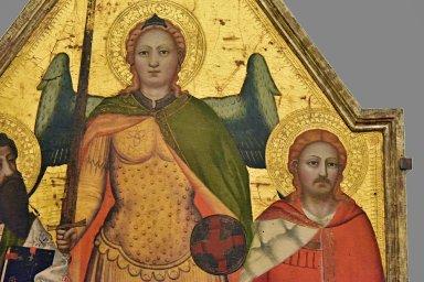 Saints Michael Archangel, Bartholomew, Julian the Hospitaller and Donor