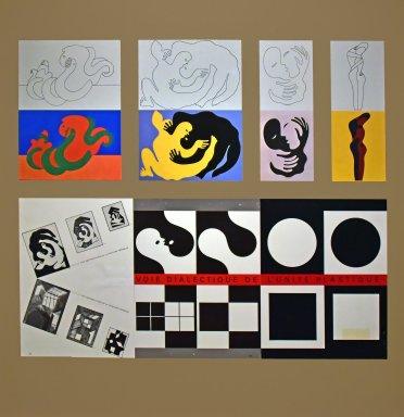 "Study on Cardboard 3-2 Birth of Plastic Unit ""Transmutation Figurative-Abstract"""