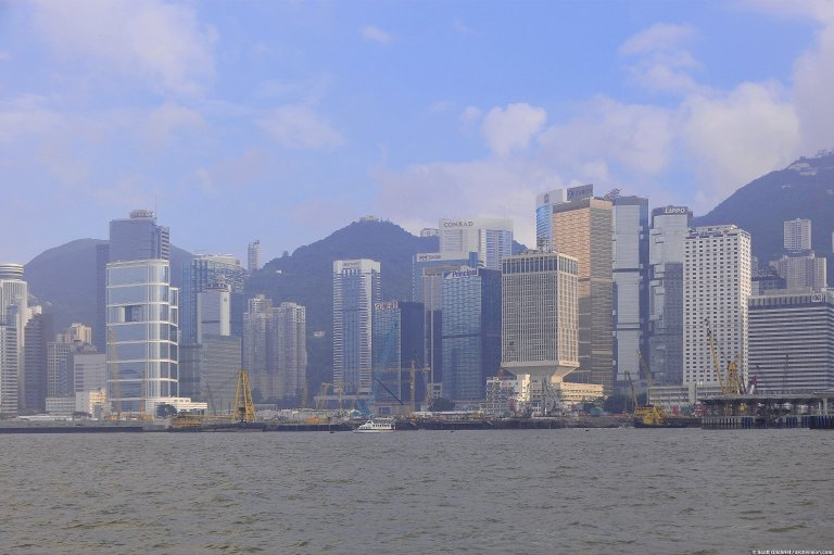 Hong Kong: Topographic Views of Victoria Harbour Skyline, Hong Kong: Topographic Views of Victoria Harbour Skyline