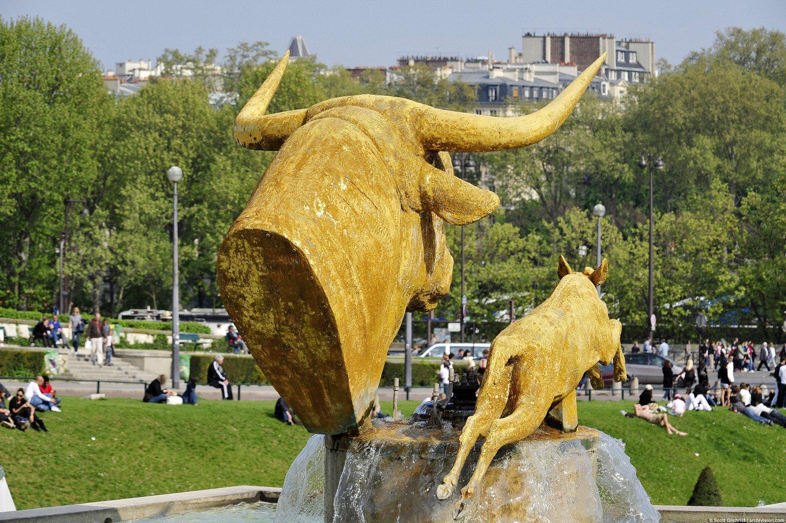 Bull and Deer