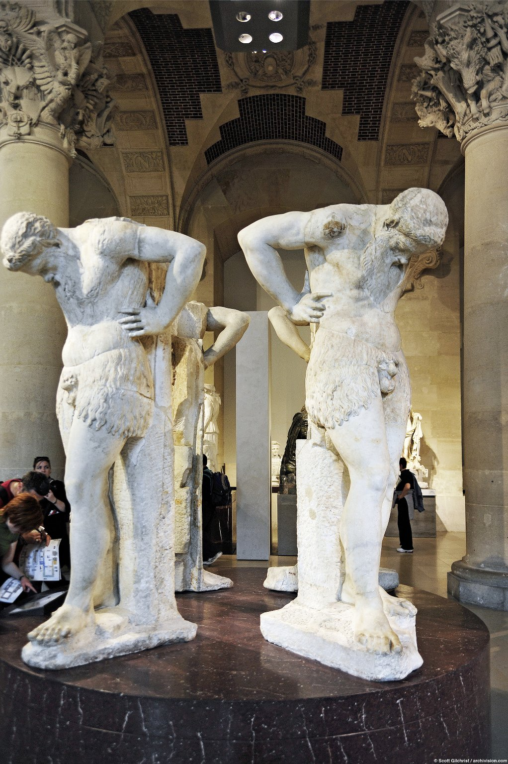 Atlantes in the form of Satyrs