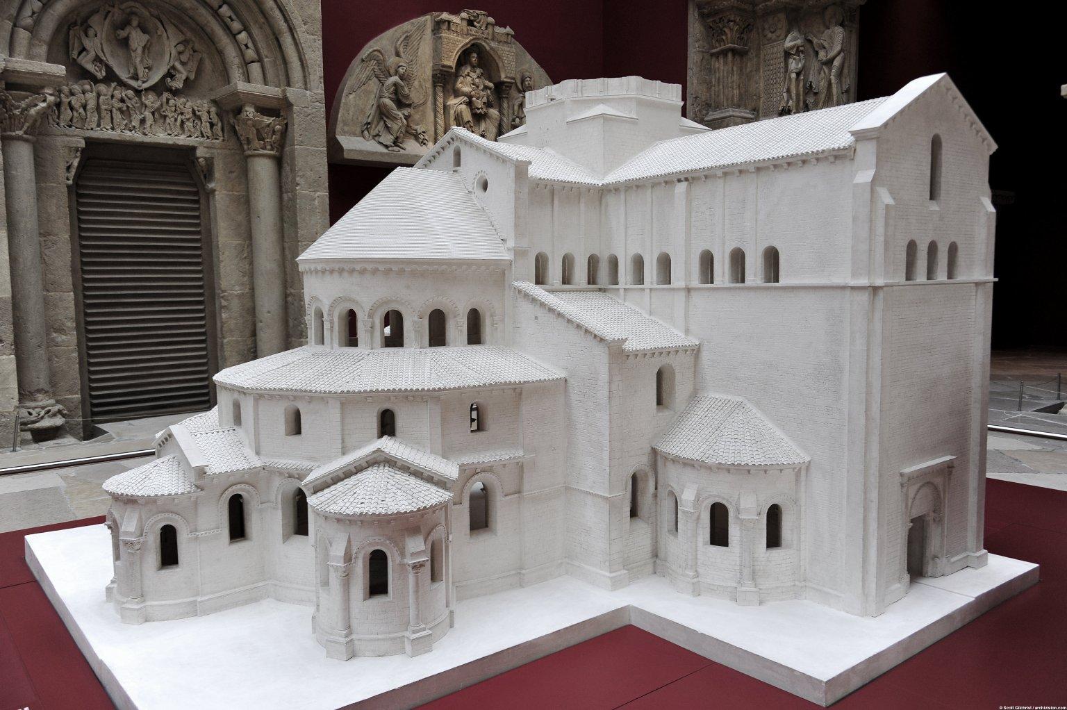 Plaster Model of Basilique Notre-Dame, Paray-le-Monial