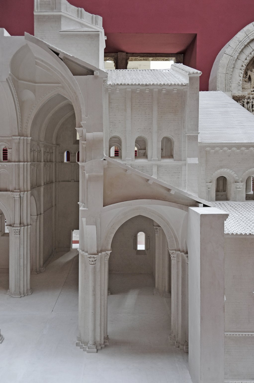 Plaster Model of Basilique Notre-Dame, Paray-le-Monial