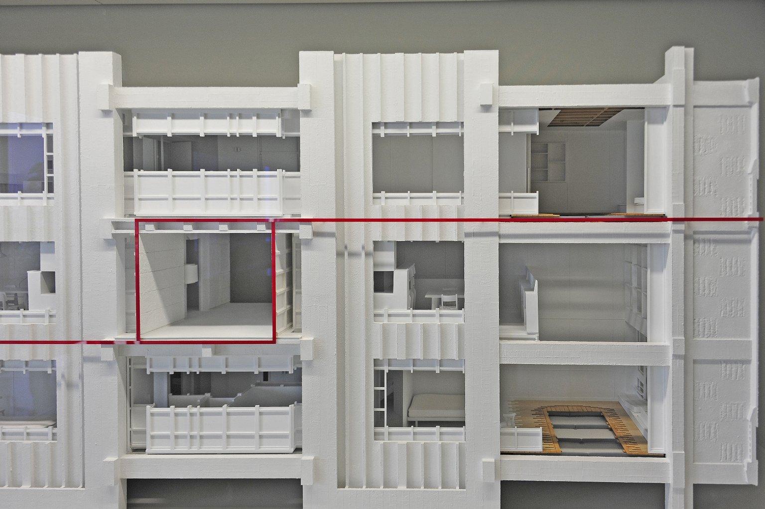 Cutaway models of Unité d'Habitation, Marseilles