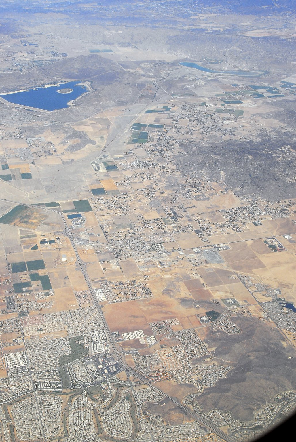 Los Angeles: Aerial (from Airplane) Topographic Views