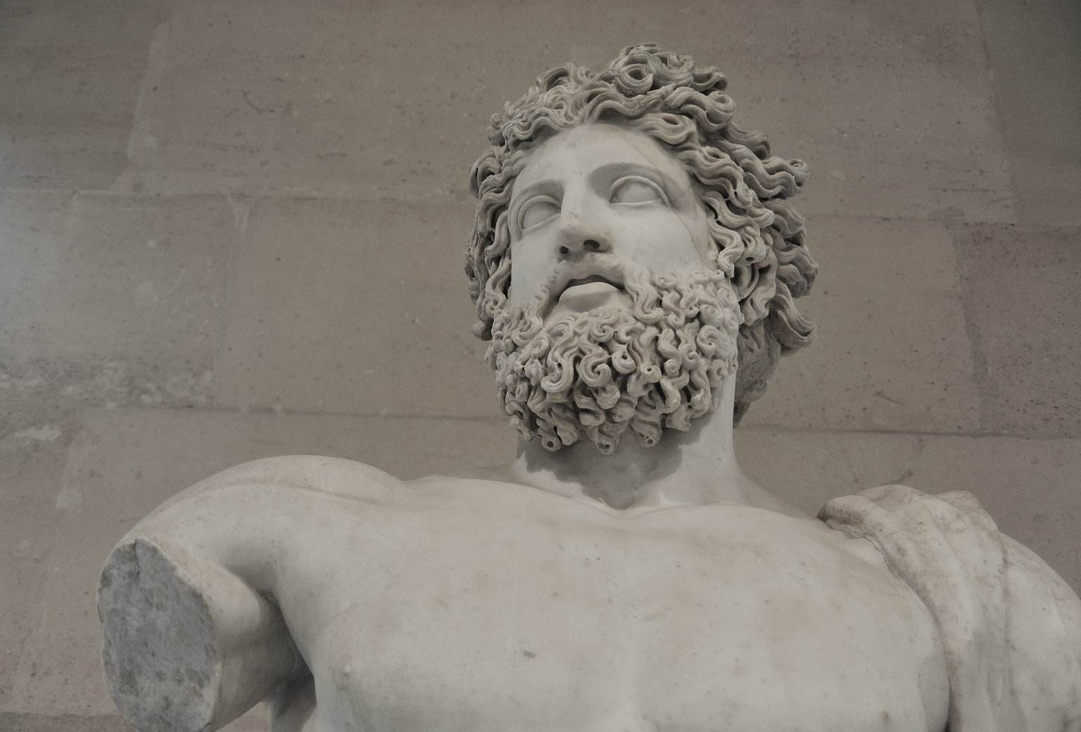 Bearded Divinity called 'Jupiter of Versailles'